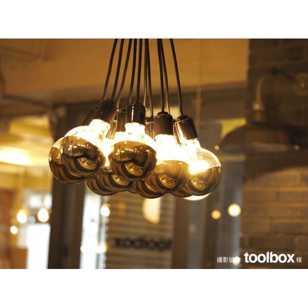 【フィラメントLED電球「Siphon」ボール95 LDF34】E26 Silver mirror 暖系電球色 Tミラー レトロ アンティーク インダストリアル ブルックリン  間接照明 ランプ|only1-led|04