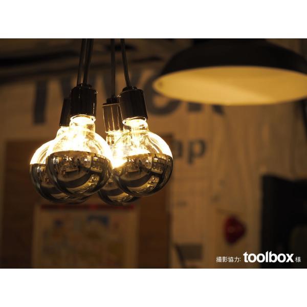 【フィラメントLED電球「Siphon」ボール95 LDF34】E26 Silver mirror 暖系電球色 Tミラー レトロ アンティーク インダストリアル ブルックリン  間接照明 ランプ|only1-led|07