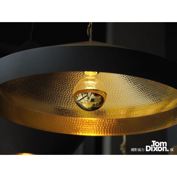 【フィラメントLED電球「Siphon」ボール95 LDF35】E26 Gold mirror 暖系電球色 Tミラー レトロ アンティーク インダストリアル ブルックリン  間接照明 ランプ|only1-led|06