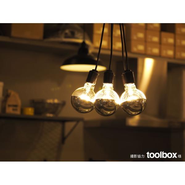 【フィラメントLED電球「Siphon」ボール95 LDF36】E26 Silver mirror 電球色 Tミラー レトロ アンティーク インダストリアル ブルックリン  間接照明 ランプ|only1-led|06