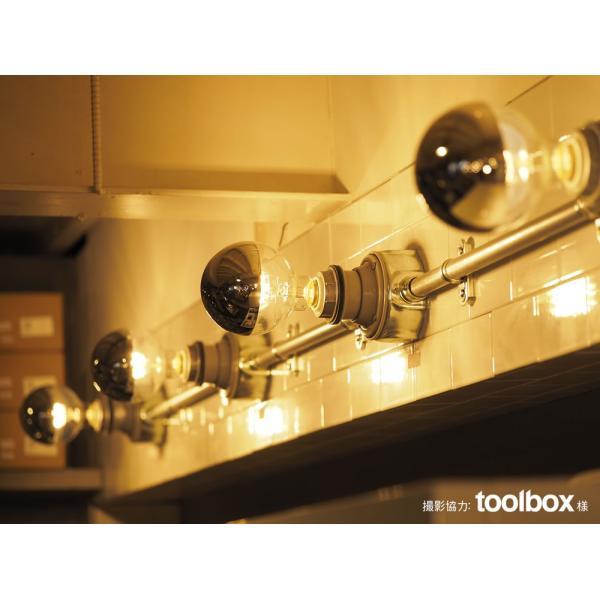 【フィラメントLED電球「Siphon」ボール95 LDF36】E26 Silver mirror 電球色 Tミラー レトロ アンティーク インダストリアル ブルックリン  間接照明 ランプ|only1-led|07