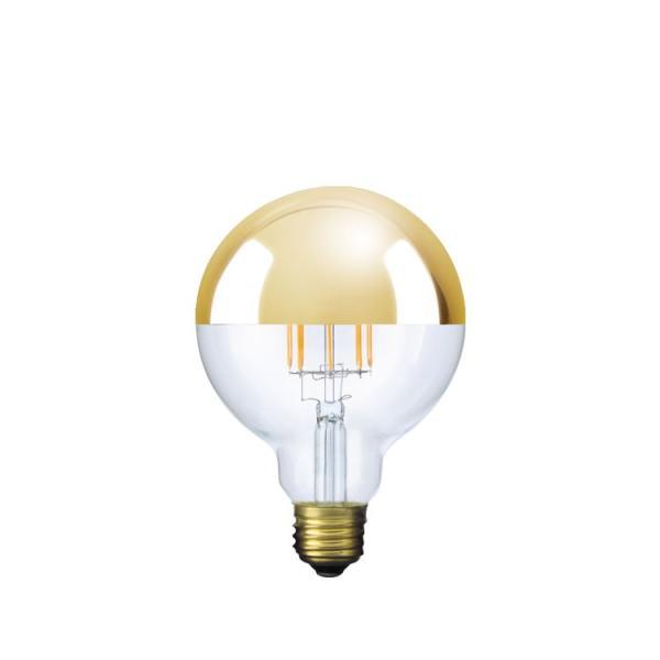 【フィラメントLED電球「Siphon」ボール95 LDF37】E26 Gold mirror 電球色 Tミラー レトロ アンティーク インダストリアル ブルックリン  間接照明 ランプ|only1-led|02
