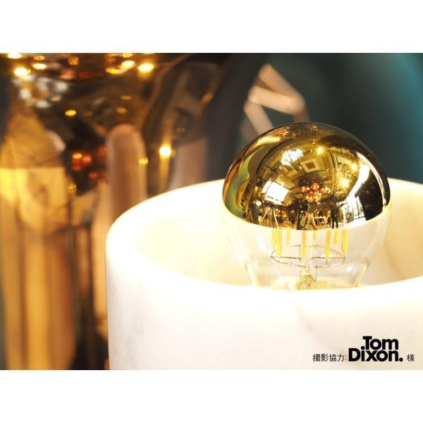 【フィラメントLED電球「Siphon」ザ・バルブ LDF39】E26 Gold mirror 暖系電球色 Tミラー レトロ アンティーク インダストリアル ブルックリン  間接照明 ランプ|only1-led|04