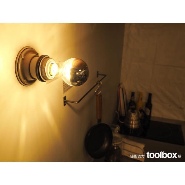 【フィラメントLED電球「Siphon」ザ・バルブ LDF40】E26 Silver mirror 電球色 Tミラー レトロ アンティーク インダストリアル ブルックリン  間接照明 ランプ|only1-led|04