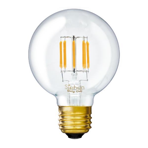 【3年保証 フィラメントLED電球「Siphon」ボール70 LDF87】E26 40W相当 レトロ アンティーク インダストリアル ブルックリン 間接照明 ランプ|only1-led|02