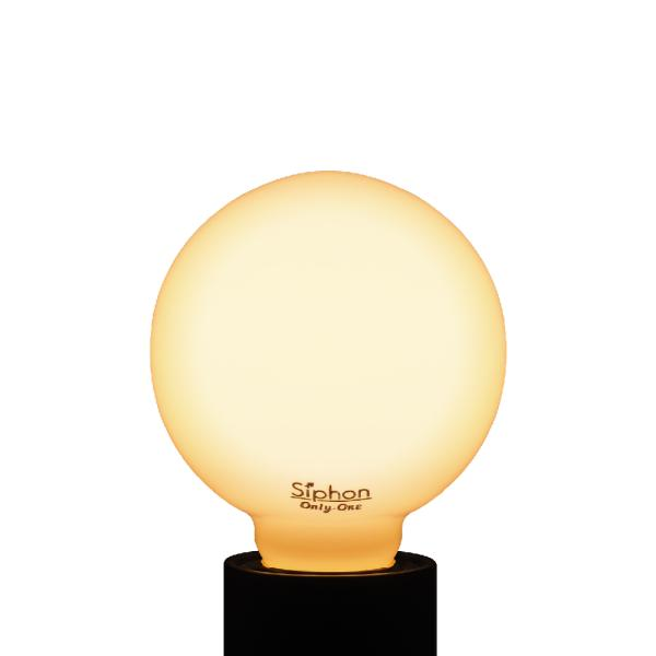 【3年保証 フィラメントLED電球「Siphon」White ボール70 LDF91】E26 40W相当 ホワイト レトロ アンティーク インダストリアル ブルックリン 間接照明 ランプ|only1-led|04