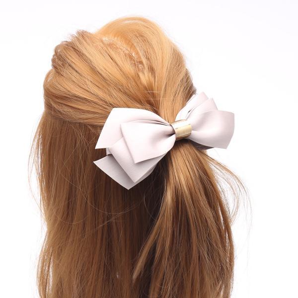 バナナクリップ リボンクリップ リボン ゴールドバックル レディース 女性用  ヘアアレンジ 髪留め カジュアル ヘアアクセサリー ヘアクリップ