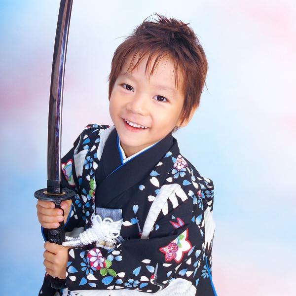 七五三 袴 ブランド/男の子 着物 レンタル 5歳 袴セット 子供  04-540MR Childoll 05黒 鶴|onlyyou|02