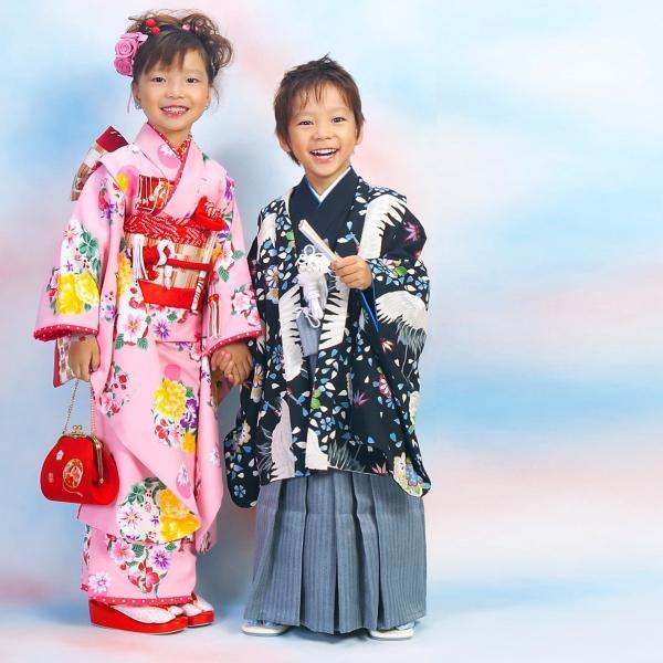 七五三 袴 ブランド/男の子 着物 レンタル 5歳 袴セット 子供  04-540MR Childoll 05黒 鶴|onlyyou|03