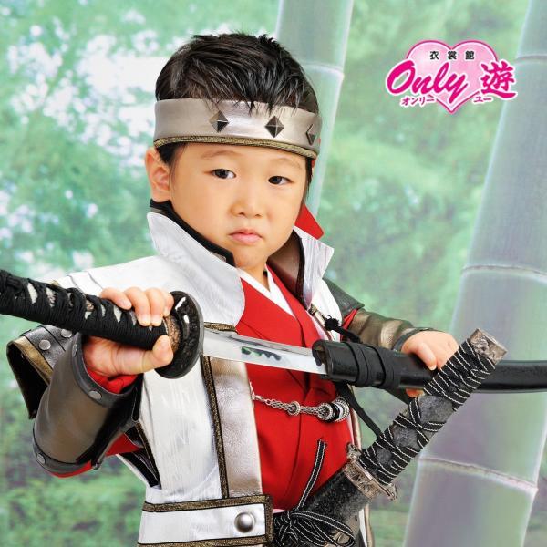 七五三 袴 ブランド/男の子  着物 レンタル 5歳 袴セット 子供  JAPAN STYLE 04-661IM SENGOKU BUSHO|onlyyou