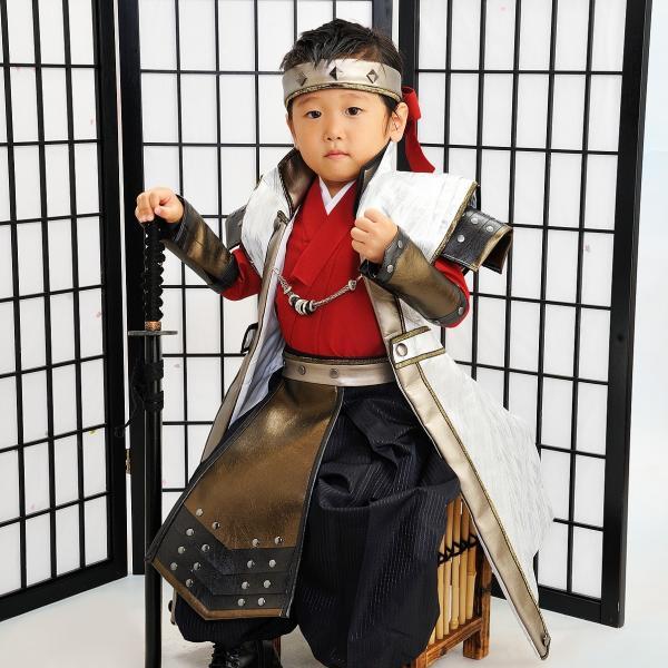 七五三 袴 ブランド/男の子  着物 レンタル 5歳 袴セット 子供  JAPAN STYLE 04-661IM SENGOKU BUSHO|onlyyou|02