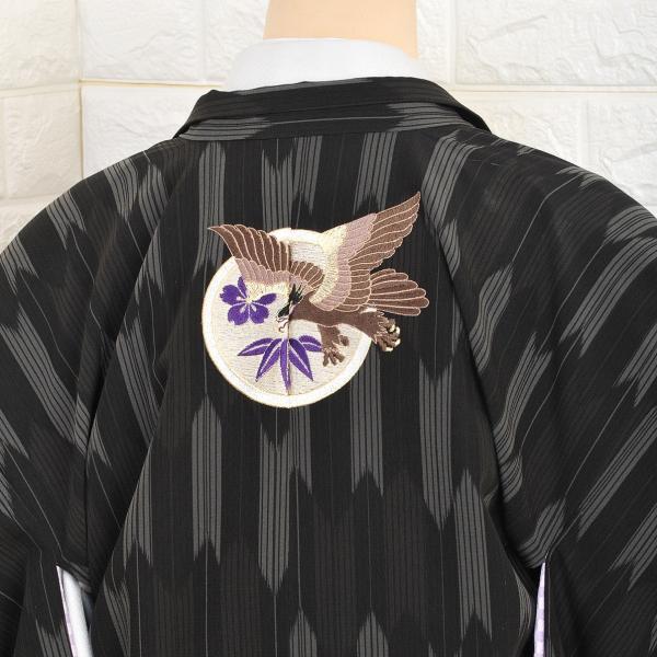 十歳の祝い/1/2成人式/男紋付羽織袴 ブランド/JAPAN STYLE/着物レンタル 10-547IM 黒|onlyyou|04