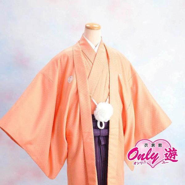 メンズ袴/男紋付羽織袴/20-514MR(6号)/結婚式/成人式/入学式/卒業式/着物レンタル オレンジ|onlyyou