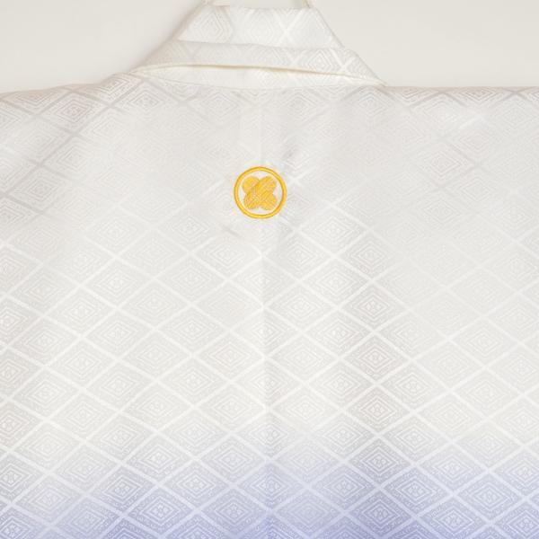 メンズ袴/男紋付羽織袴/20-525KT(7号)/結婚式/成人式/入学式/卒業式/着物レンタル菊菱 白紺ぼかし|onlyyou|03