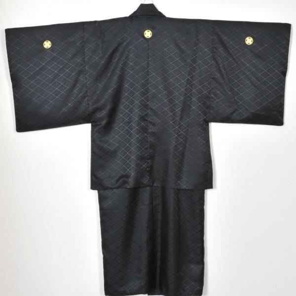 メンズ袴/男紋付羽織袴/ 20-603NB結婚式/成人式/入学式/卒業式/着物レンタル 黒|onlyyou|02