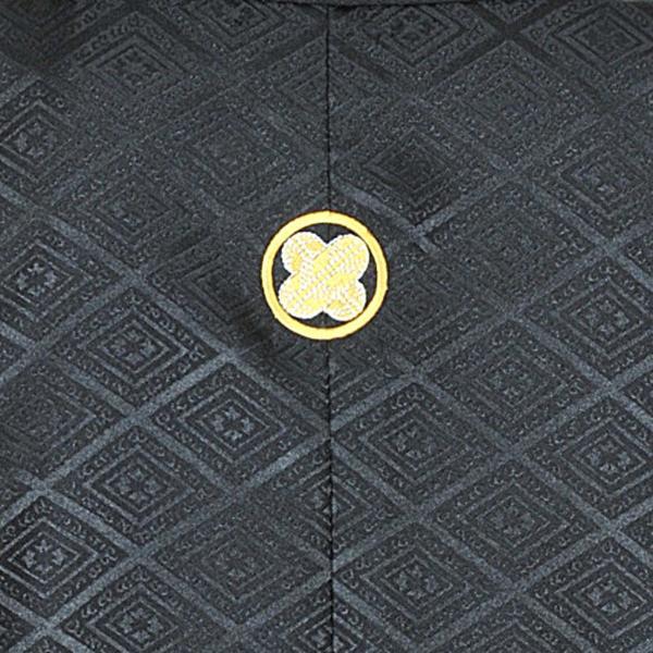 メンズ袴/男紋付羽織袴/ 20-603NB結婚式/成人式/入学式/卒業式/着物レンタル 黒|onlyyou|03