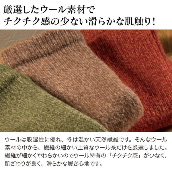 温むすび 靴下 スノーリアソックス(21-25cm) レディース ウール あったか 温か 冷え しめつけない 山忠|onmusubi|05