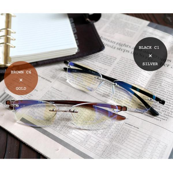 老眼鏡 かっこいい ツーポイントモデル 117 全2色 リーディンググラス おしゃれ 男性用 女性用 老眼鏡に見えないメガネ ブルーライトカット メンズ レディース|onokonoshop|16
