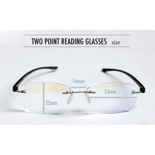 老眼鏡 かっこいい ツーポイントモデル 117 全2色 リーディンググラス おしゃれ 男性用 女性用 老眼鏡に見えないメガネ ブルーライトカット メンズ レディース|onokonoshop|17