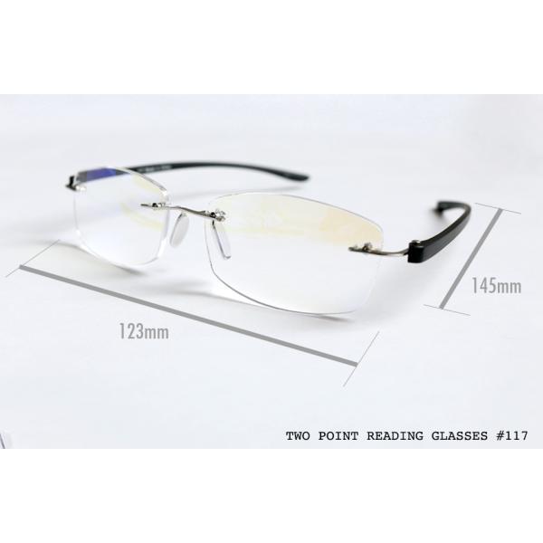 老眼鏡 かっこいい ツーポイントモデル 117 全2色 リーディンググラス おしゃれ 男性用 女性用 老眼鏡に見えないメガネ ブルーライトカット メンズ レディース|onokonoshop|18