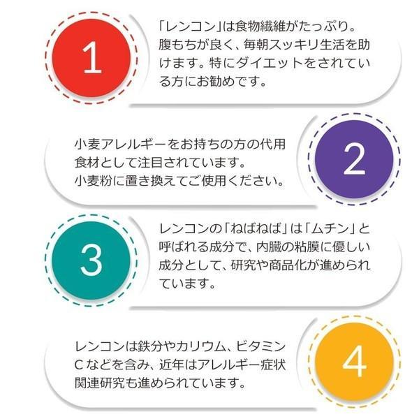 無添加 国産(徳島県産)れんこん粉 レンコンパウダー 100g×3袋 メール便限定送料無料|onomichi-8|05
