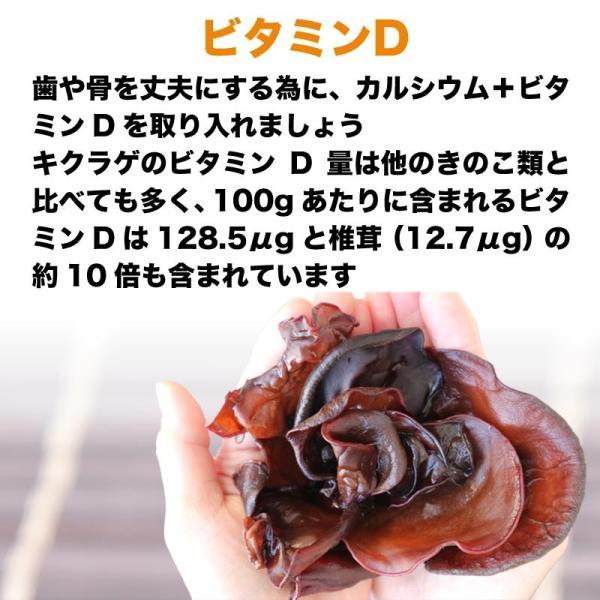 国産 乾燥きくらげ 50g×1袋 送料無料 木耳 キクラゲ きくらげ|onomichi-marukin|05