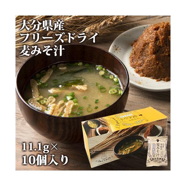大分産ブランド味一ねぎ入り 宇佐の麦みそ汁 11.1g×10個入り フリーズドライ 坂本商店