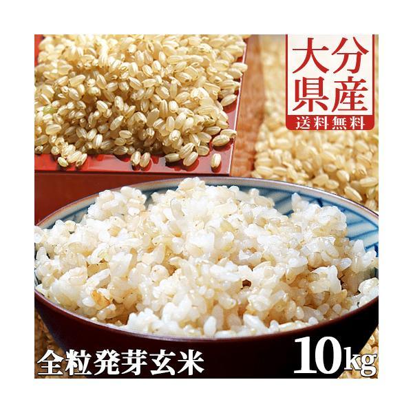 大分県産 無洗米 手作り発芽玄米 10kg(真空パック1kg×10袋) 準無農薬(減農薬) スタリオン日田 送料無料