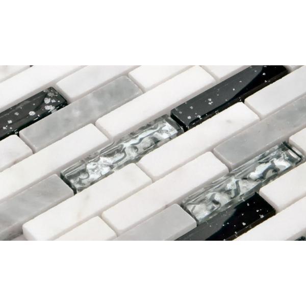 モザイク タイル シール タイプ ガラス 大理石 STR-1008S デザイン豊富 9 種類 1シート 305×318×8mm|onyx-jp|04