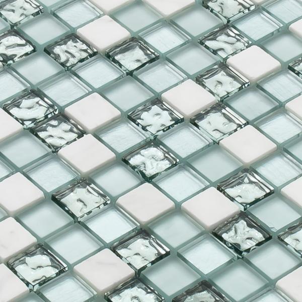 モザイク タイル シール タイプ ガラス 大理石 STR-5037S デザイン豊富 9 種類 1シート 300×300×8mm|onyx-jp