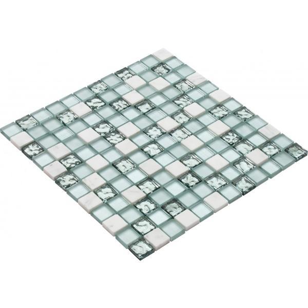 モザイク タイル シール タイプ ガラス 大理石 STR-5037S デザイン豊富 9 種類 1シート 300×300×8mm|onyx-jp|02