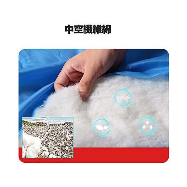 Shamo Camel 寝袋 シュラフ スリーピングバッグ 封筒型 コンパクト 軽量 丸洗い 最低使用温度-5度 収納袋 3カラー -028 (青)|oo-pp-ss|08