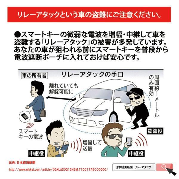 スマートキーケース リレーアタック対策 電波遮断 盗難防止|oobikiyaking|03
