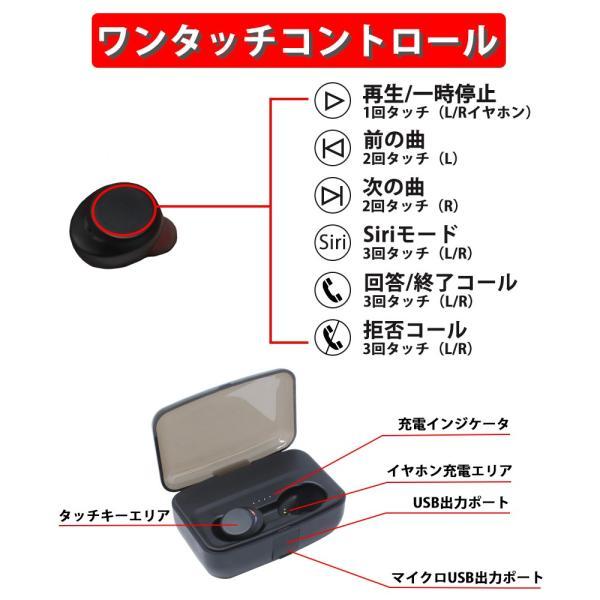 イヤホン Bluetooth 5.0 自動ペアリング 高音質 防水 モバイルバッテリー|oobikiyaking|13