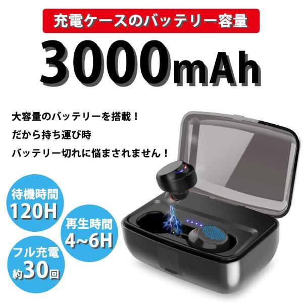イヤホン Bluetooth 5.0 自動ペアリング 高音質 防水 モバイルバッテリー|oobikiyaking|06