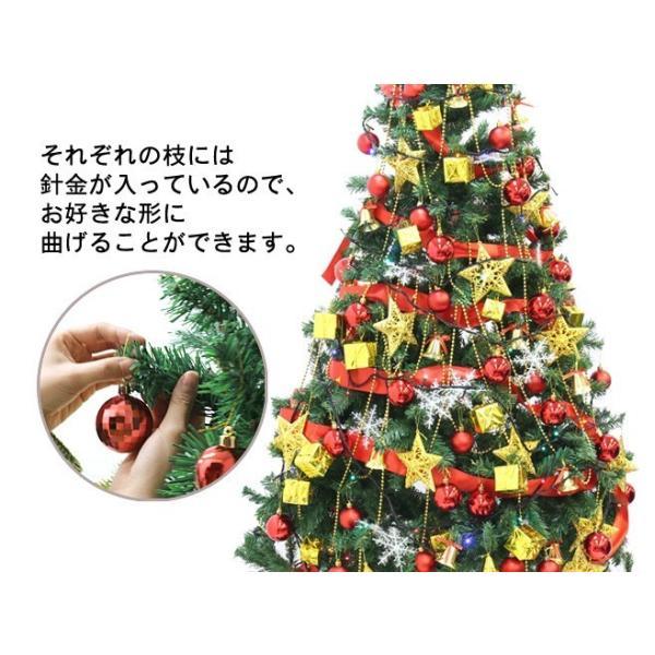 クリスマスツリー メガセット 180cm イルミネーション LED 100球 オーナメント のセット|oobikiyaking|03