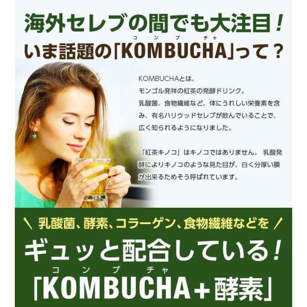 ダイエット 茶 コンブチャ+酵素 配合ドリンク KOMBUCHA+酵素720ml×2本セット 国産 紅茶キノコ クレンズ 酵素ドリンク|ooii|05