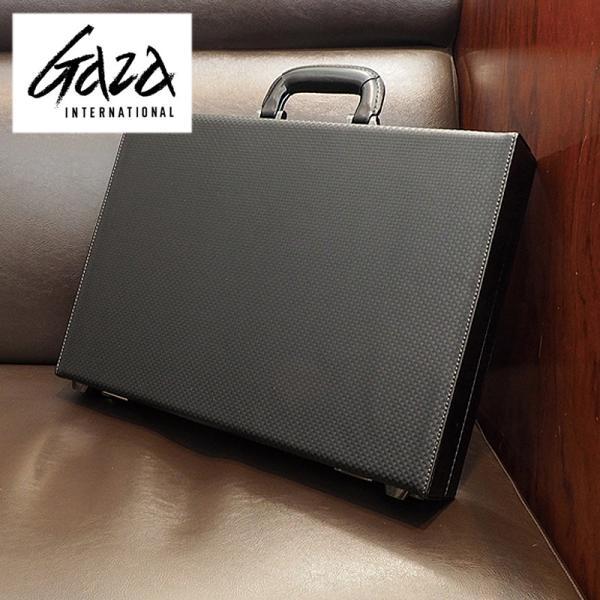 革ケアキット/防水スプレー どちらかプレゼント! 青木鞄 GAZA メンズ アタッシュケース  ビジネスバッグ B4 6252 ブラック