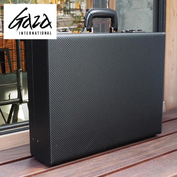 革ケアキット/防水スプレー どちらかプレゼント! 青木鞄 GAZA メンズ アタッシュケース  ビジネスバッグ B4 6254 ブラック
