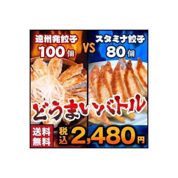 餃子 お取り寄せ 送料無料 遠州餃子100個VSスタミナ餃子80個 選べるセット たれ付き 2セットでおまけ ご当地グルメ|ookifoods