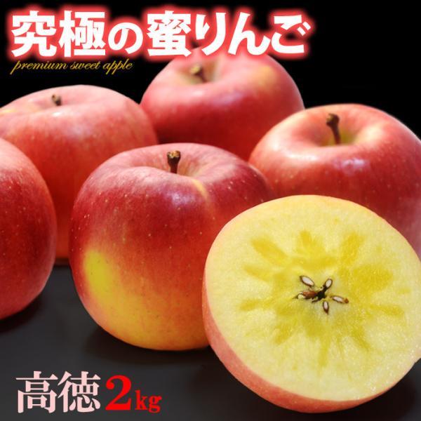 高徳りんご(2kg)山形産 蜜入り みついり こうとく リンゴ 林檎 送料無料