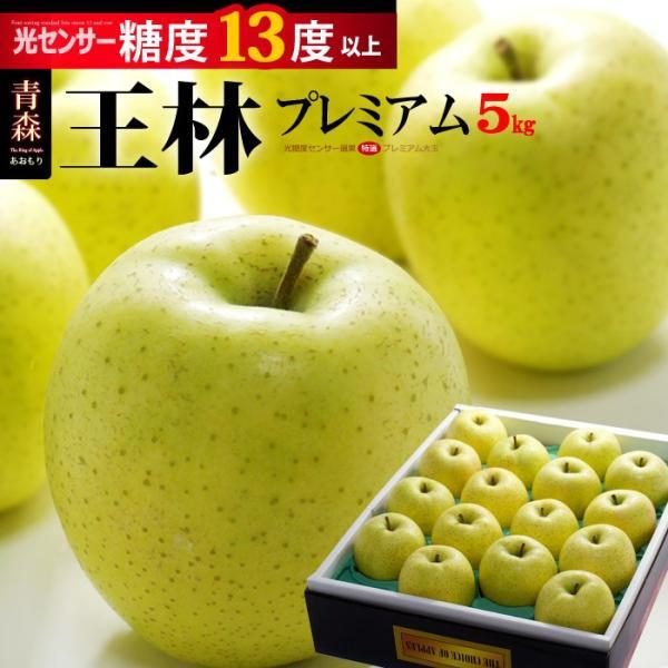 王林プレミアム13(約5kg)青森産 リンゴ 林檎 青りんご 送料無料