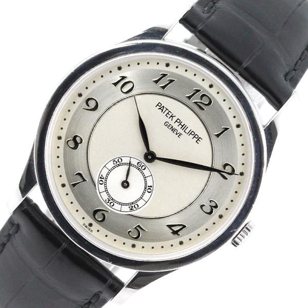 パテック・フィリップPATEKPHILIPPEカラトラバ5196P-001プラチナ腕時計メンズ中古