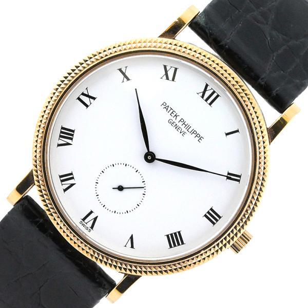 パテック・フィリップPATEKPHILIPPEカラトラバ3919J-001金無垢手巻き腕時計メンズ中古