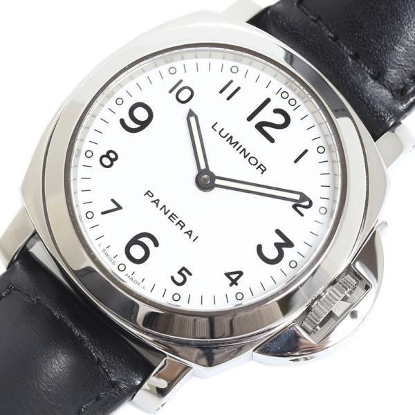 パネライPANERAIルミノールベースPAM00114手巻き腕時計ホワイトメンズ中古