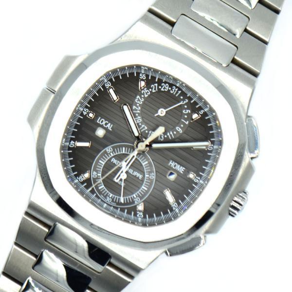 パテック・フィリップPATEKPHILIPPEノーチラストラベルタイムクロノグラフ5990/1A-001自動巻き腕時計メンズ中古