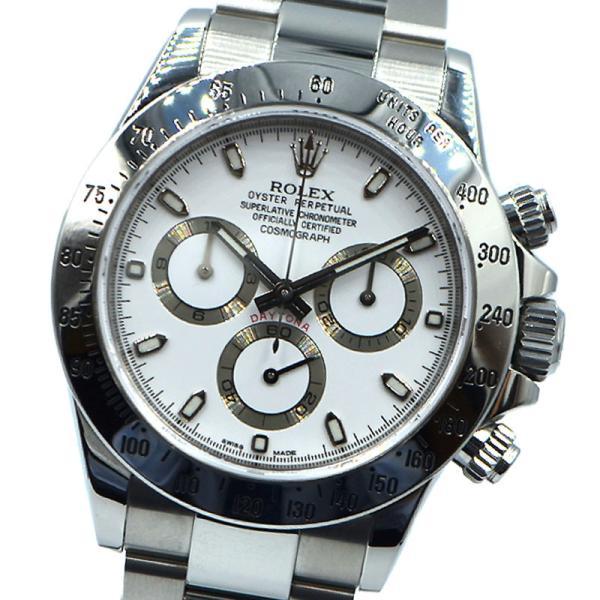 ロレックスROLEXデイトナ116520ホワイト腕時計メンズ中古
