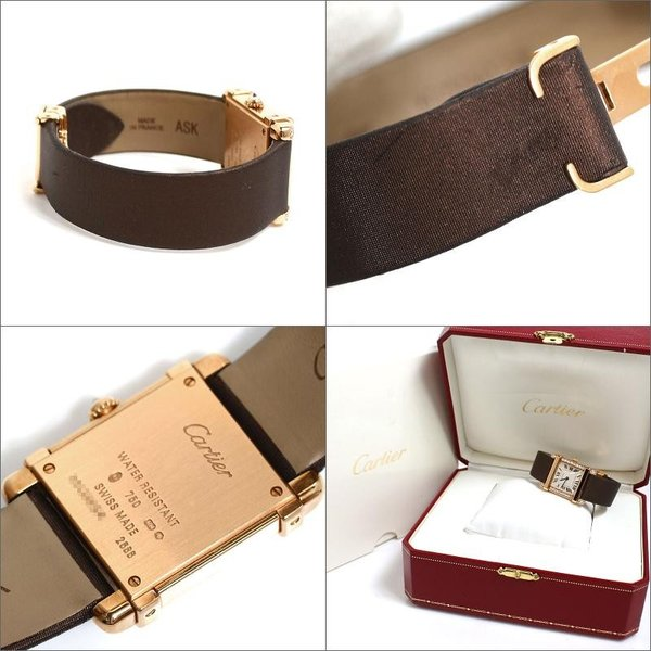 カルティエ Cartier タンクシノワーズ SM WE300131 PG無垢 ダイヤモンド クォーツ レディース 腕時計(中古)