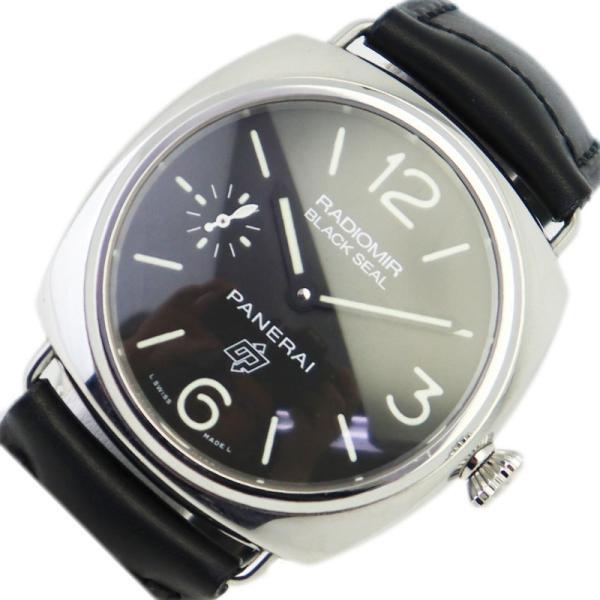 パネライPANERAIラジオミールブラックシールロゴPAM00380手巻き腕時計メンズ中古