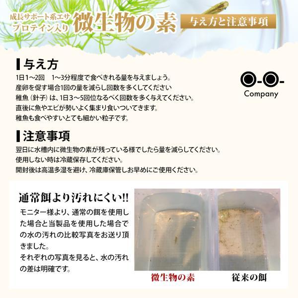 OーOー(オーオー)成長促進系エサ 微生物の素 プロテイン入り メダカ 稚魚(針子) 熱帯魚の餌|ooo|07